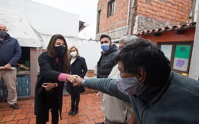 Bettina Romero visitó a personas que viven en situación de calle